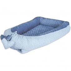 Bubaba Гнездо за бебе Мини, Сърчица синьо