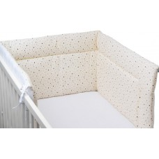 Bubaba Baby Padded Bumper, beige