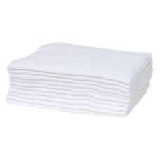 Bubaba Muslin Wraps 10 pieces white
