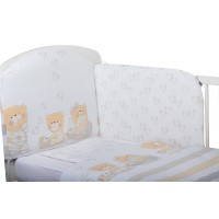 Bubaba 6 elements bedding set, Teddy bear with hearts
