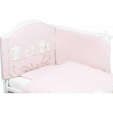 Bubaba 6 elements bedding set, Pink Teddy bear