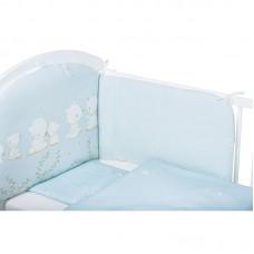 Bubaba 6 elements bedding set, Blue Teddy bear