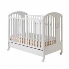 Bucko Бебешко дървено легло Lilly White Blue
