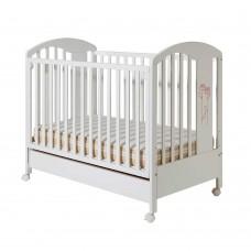 Bucko Бебешко дървено легло Lilly White Rose