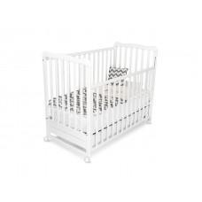 Bucko Бебешко дървено легло Nina White