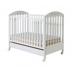 Bucko Бебешко дървено легло Nora White