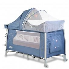 Cangaroo Travel cot Good  ISleep blue