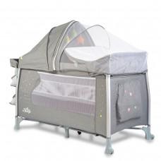 Cangaroo Travel cot Good  ISleep grey