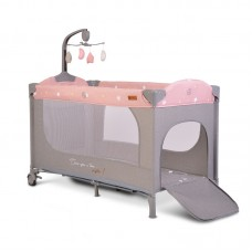 Cangaroo Travel cot Once upon a time 1, pink