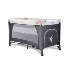 Cangaroo Baby Travel Cot Star Duo, pink