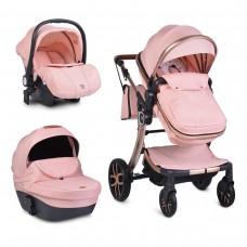 Cangaroo Комбинирана детска количка Polly 3 в 1, розова