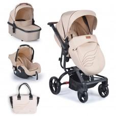 Cangaroo Baby stroller Ellada 3 in 1, beige