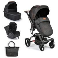 Cangaroo Baby stroller Ellada 3 in 1, black