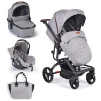 Cangaroo Baby stroller Ellada 3 in 1, grey