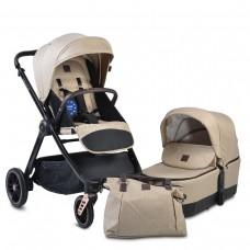 Cangaroo Комбинирана бебешка количка Macan 2 в 1 бежова