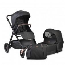 Cangaroo Комбинирана бебешка количка Macan 2 в 1 черна