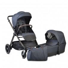 Cangaroo Комбинирана бебешка количка Macan 2 в 1 деним