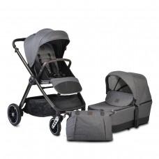 Cangaroo Комбинирана бебешка количка Macan 2 в 1 сива