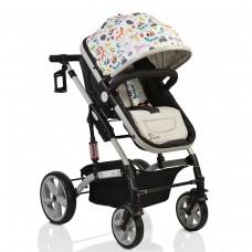 Cangaroo Комбинирана бебешка количка Pavo 2 в 1 сива