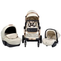 Cangaroo Baby Stroller Polly 3 in 1, beige