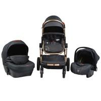 Cangaroo Baby Stroller Polly 3 in 1, black