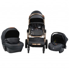 Cangaroo Baby Stroller Polly 3 in 1, black