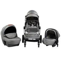 Cangaroo Baby Stroller Polly 3 in 1, grey