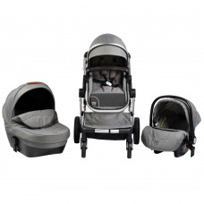 Cangaroo Baby Stroller Polly 3 in 1, grey