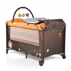 Cangaroo Travel cot Sleepy, orange