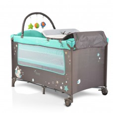 Cangaroo Travel cot Sleepy, turquoise