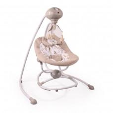 Cangaroo Бебешка електрическа люлка Woodsy бежова