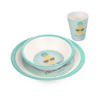 Canpol Tableware Bamboo Set So Cool 3 pcs, pineapple