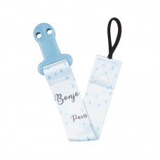 Canpol Soother Clip with Ribbon Bonjour Paris