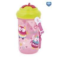 Canpol Sport cup with flip-top straw Forest Friends