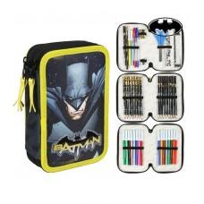 Cerda Full Pencil case with three compartments Batman