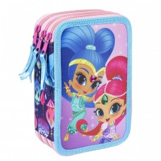 Cerda Full Pencil case with three compartments Shimmer Shine
