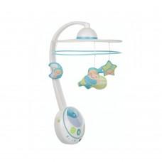 Chicco Музикална въртележка - прожектор Magic Srars, синя
