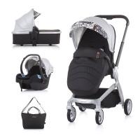 Chipolino Baby Stroller Emotion 3 in 1, silver