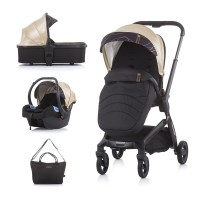Chipolino Baby Stroller Emotion 3 in 1, gold