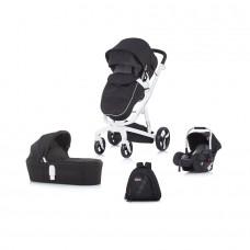 Chipolino Baby stroller 3 in 1 Electra black/white frame