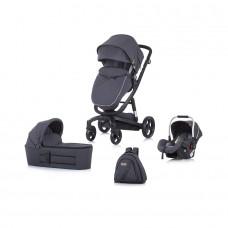 Chipolino Baby stroller 3 in 1 Electra grey/black frame