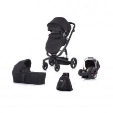 Chipolino Baby stroller 3 in 1 Electra black/black frame