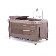Chipolino Foldable travel cot Bella, latte