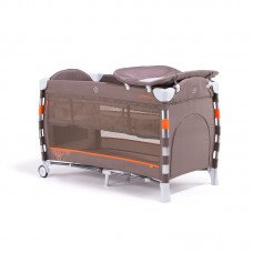 Chipolino Foldable travel cot Omnia, latte