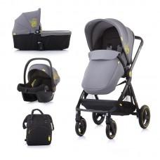 Chipolino Бебешка количка Елит 3 в 1 до 22 кг, асфалт