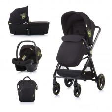 Chipolino Бебешка количка Елит 3 в 1 до 22 кг, карбон