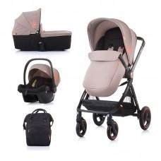 Chipolino Бебешка количка Елит 3 в 1 до 22 кг, лате