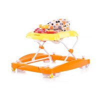 Chipolino Musical baby walker 3 in 1 Hellix, tangerine