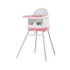 Chipolino High chair 3 in 1 Pudding, peony pink