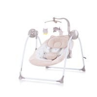 Chipolino Electric musical baby swing Hug, latte